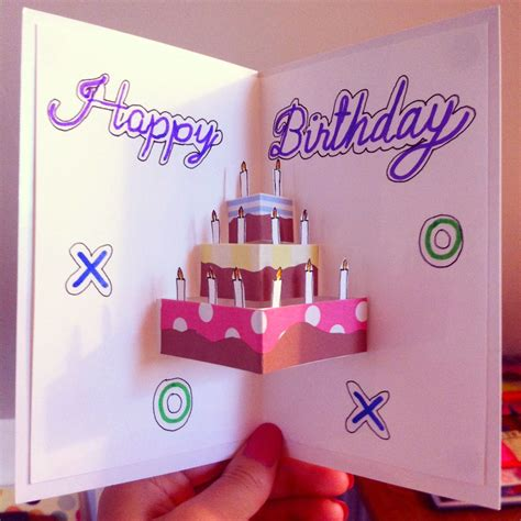 Birthday Pop Up Greeting Card pop up birthday card for the starry nights crafts