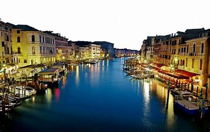 Italy Buildings Deep Sea Lighted Transparent River