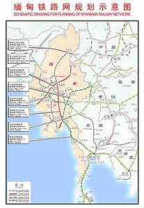 China Myanmar Rail Connection Network Map