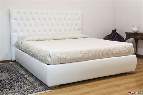 bed for leather bed with upholstered and buttoned headboard