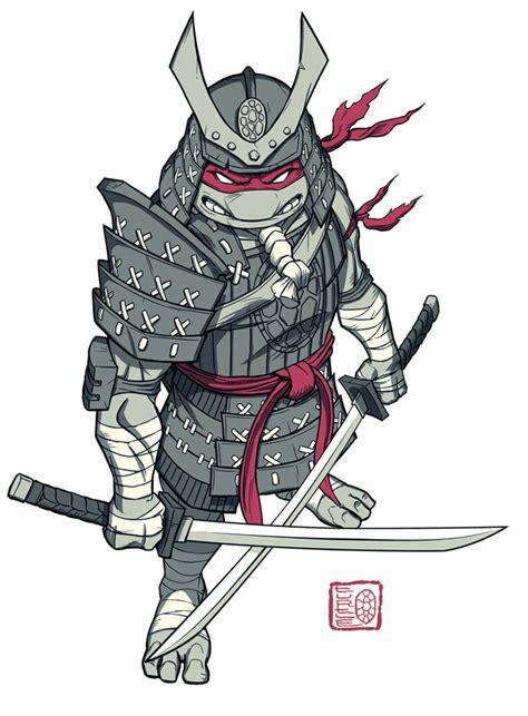tmnt samurai rapheal  teenie muant ninja turtles