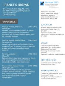resume format 2015 accountant best resume exles 2015 2016 resume 2015