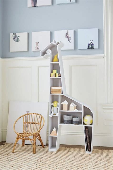 Giraffe Bookcase by Animal Shaped Shelves Mommo Design