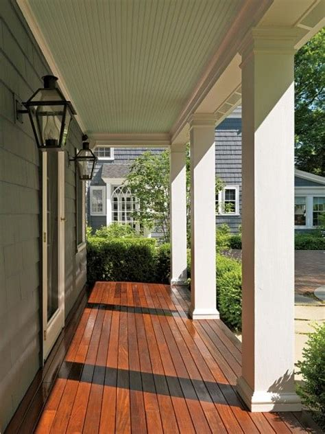Decorative Front Porch Columns - this is the color i would like to paint stain my deck i