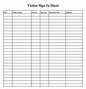7 sample medical sign in sheets sample templates With visitor sign in register template