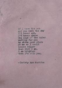 poetry if i were the sun by christy ann martine old With love poems for wedding ceremony