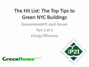 April Forum: The Hit List - The Top Tips to Green NYC ...