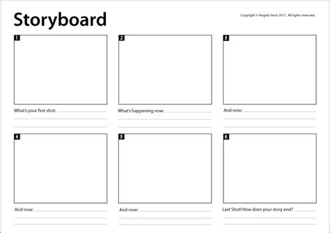 Storyboard Template Storyboard Template Really Useful For Mapping