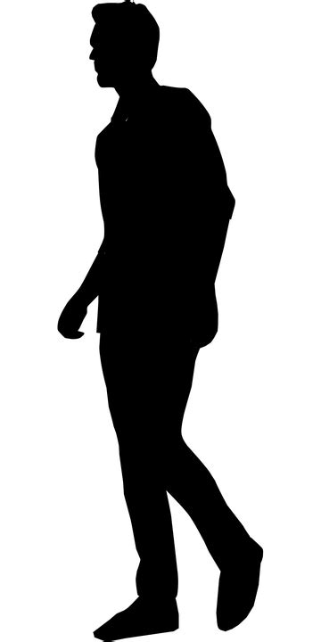 Silhouette Walking Man - Free vector graphic on Pixabay