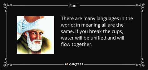 rumi quote    languages   world
