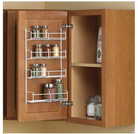 door mount spice holder rack kitchen cabinet organizer