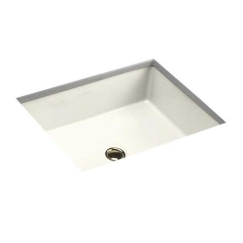 Kohler Verticyl Sink Template by Kohler Verticyl Rectangle Undermount Bathroom Sink In Biscuit