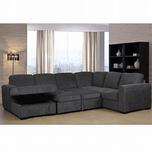 Claire, Full, Sleeper, Sectional, With, Storage, Chaise