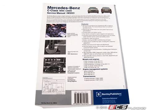 free service manuals online 1996 mercedes benz e class parental controls ecs news mercedes benz w202 robert bentley service manual