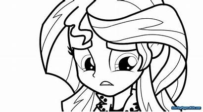 Shimmer Coloring Sunset Pony Pages Shine Equestria