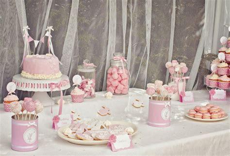 sweet table anniversaire bapteme des jumelles