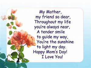 mothers day special poems - Happy Mother's Day | Preschool ...