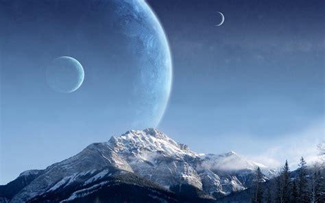 scifi fantasy  sci fi planets  wallpaper