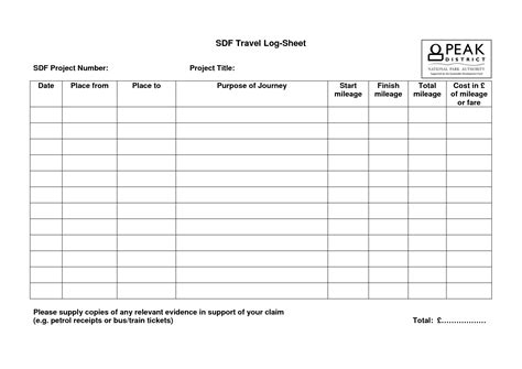 travel log sheet travel log template excel xlts