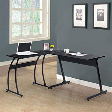 black wood computer desk black finish metal wood l shape corner computer desk pc