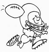 Football Coloring Printable Sheets Bestcoloringpagesforkids sketch template