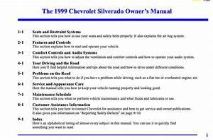 1999 Chevrolet Silverado Owner U0026 39 S Manual