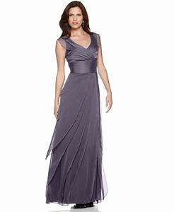 adrianna papell dress tiered evening dress womens With mothers dresses for weddings macy s