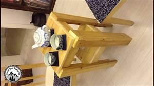 Comment Fabriquer Une Table De Ferme En Bois : comment construire une table de chevet avec du bois de r cup ration youtube ~ Louise-bijoux.com Idées de Décoration