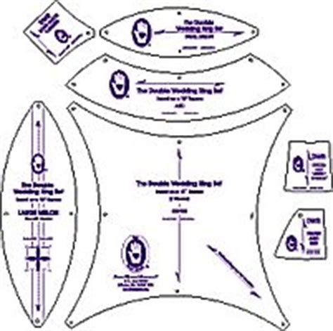 10 off double wedding ring templates from michell