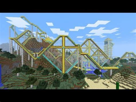 minecraft roller coaster  youtube