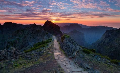 sunset, Path, Rock, Nature Wallpapers HD / Desktop and ...