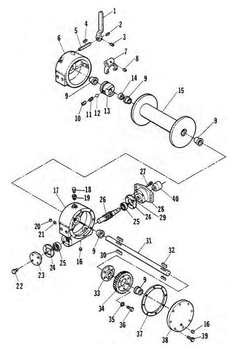 712 hydraulic winch assembly