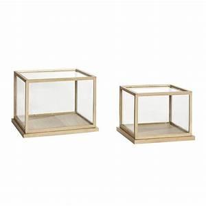 Vitrine Bois Et Verre : vitrine bois et verre lot de 2 hubsch site fran ais de vente d 39 objets de ~ Teatrodelosmanantiales.com Idées de Décoration