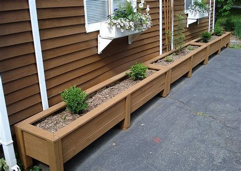 diy planter box plans    wooden planter boxes waterproof garden design house