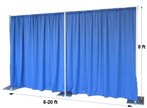 backdrops curtain with pipe for performance stage