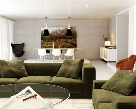 green sofa living room chilled out contemporary living rooms
