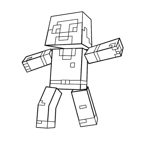 Kleurplaat Minecr by Leuk Voor Minecraft Personage