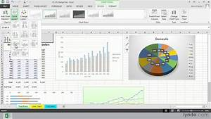 Excel 2013 Tutorial  Choosing A Chart Layout With The