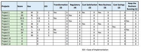 project prioritization criteria template a project prioritization matrix can reduce project