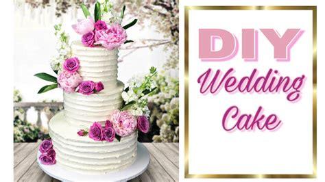 easy diy wedding cake     wedding cake youtube