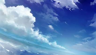 Sky Clouds Anime Wallpapers Desktop Kimi Wa