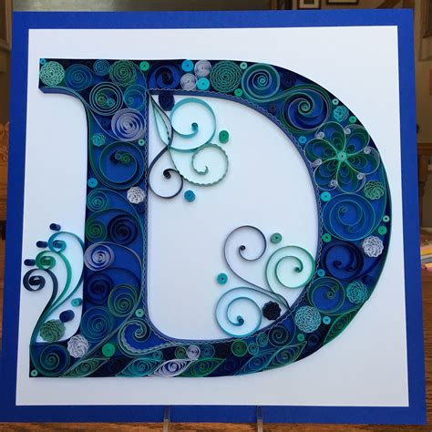 quilling quilled paper monogram lightweight cardstock letter  home decor quilling