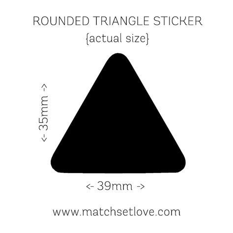 triangle wall stickers match set love