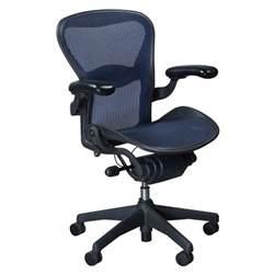 herman miller aeron used size b task chair cobalt
