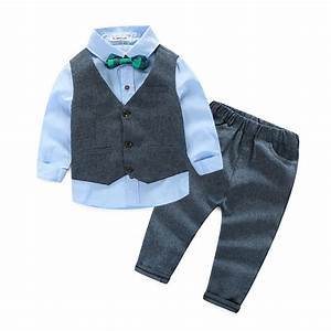 2016 baby boys autumn casual clothing set baby kids button With letter clothing