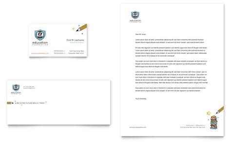education foundation school business card letterhead