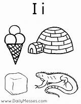 Coloring Igloo Iguana Ice Pages Letter Preschool Words Daily Colouring Alphabet Messes Starting Printable Materials Activities Kindergarten Getcoloringpages Dailymesses Teaching sketch template