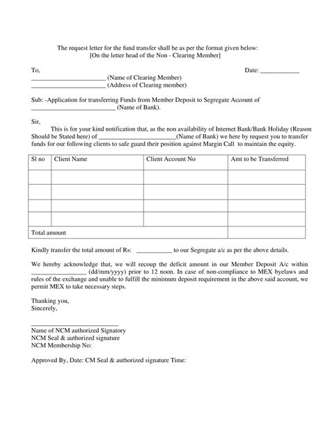 transfer request letter examples   examples