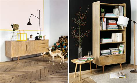 etagere chambre déco rétro vintage chez maisons du monde déco