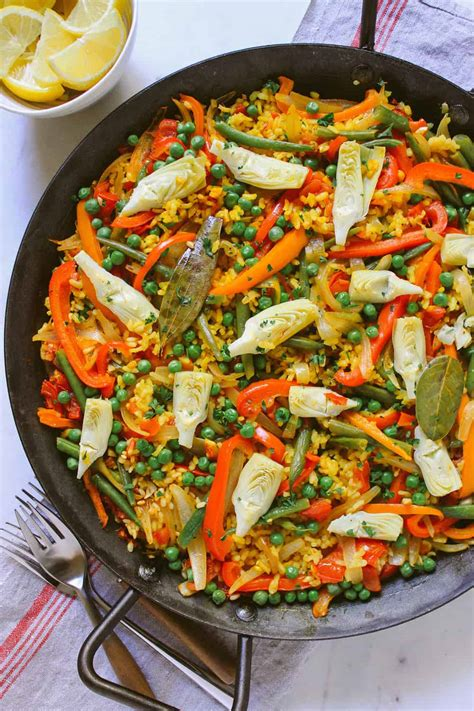 vegetable paella the simple veganista